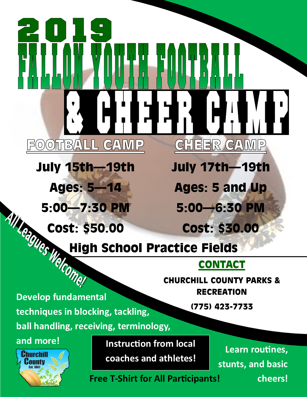 FYFL Football - Cheer Camp (2019) - Flyer