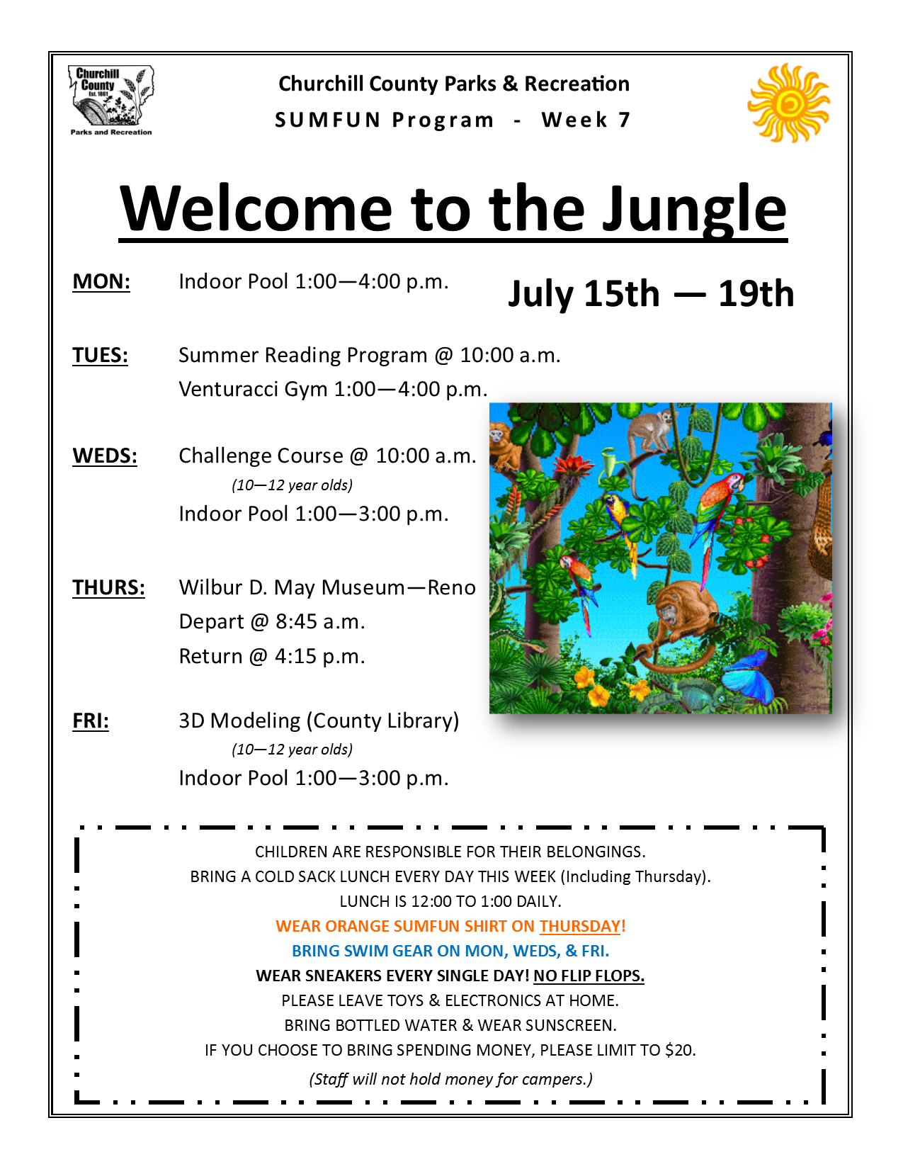 SUMFUN 2019 Flyer for Week 7