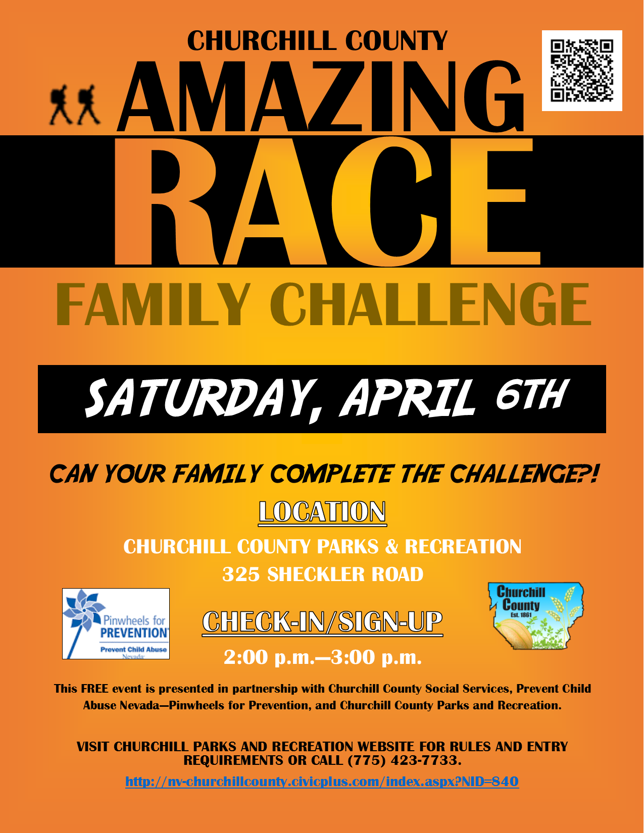 Amazing Race Family Challenge Flyer