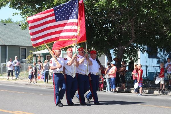 Color guard at July 4 parade