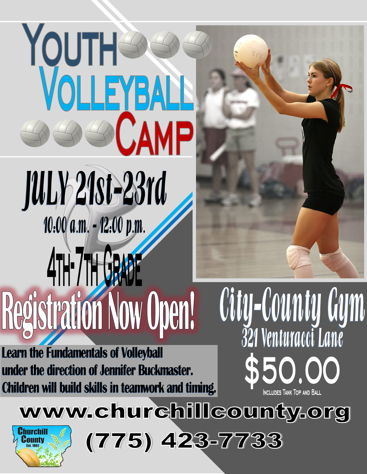 Volleyball Camp (2020) - Flyer (Digital)