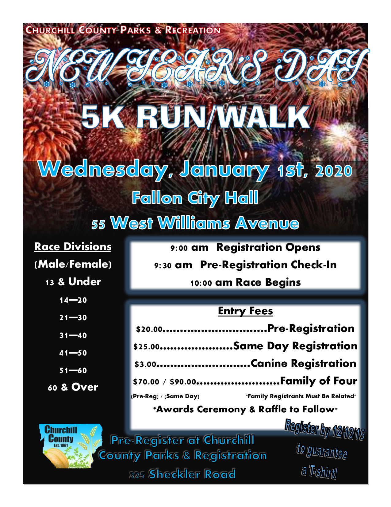 New Years 5K (2020) - Flyer (Digital)