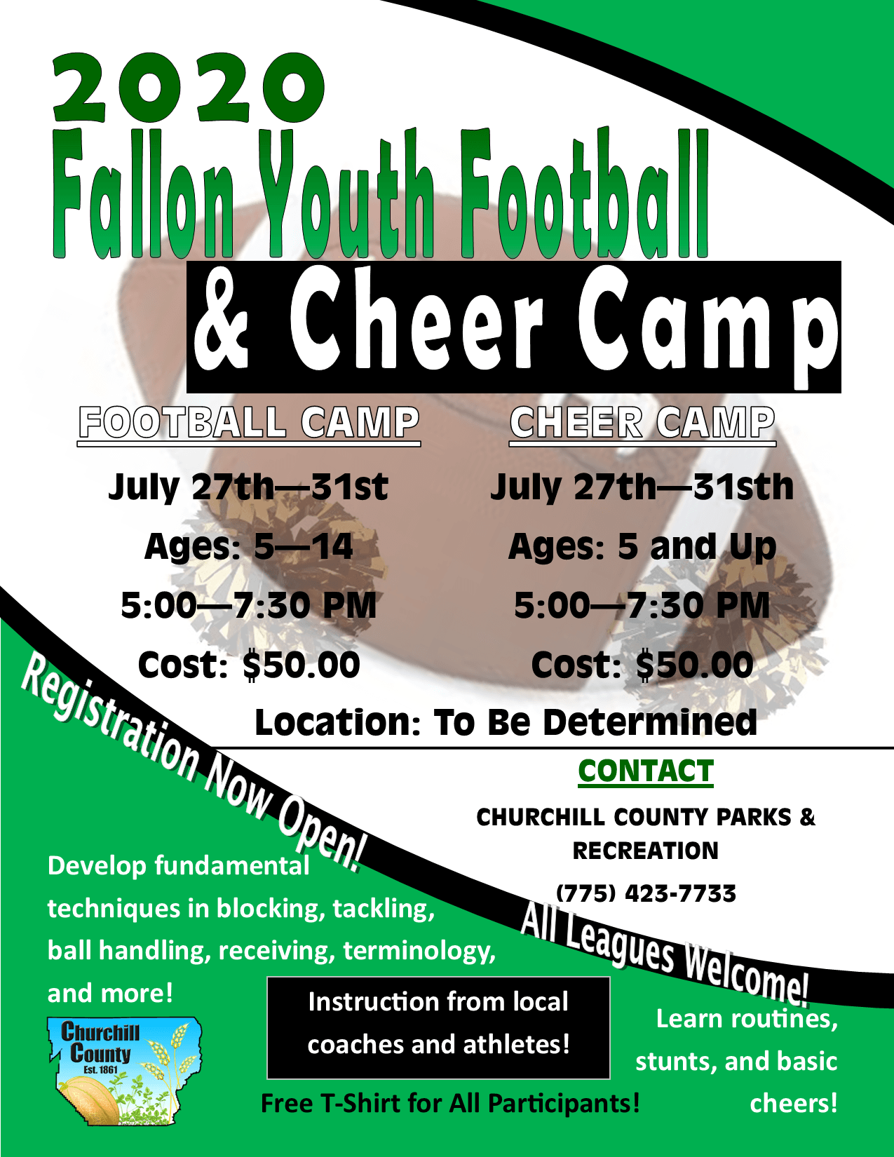 FYFL Football - Cheer Camp (2020) - Flyer (Digital)