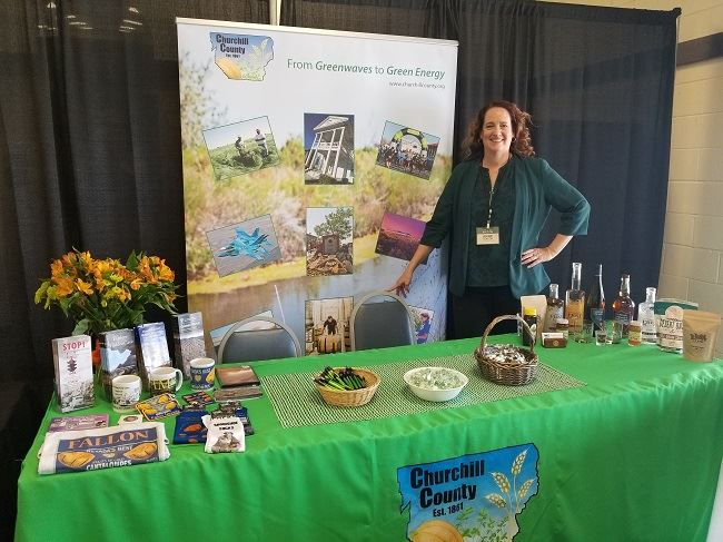 County booth at rural roundup