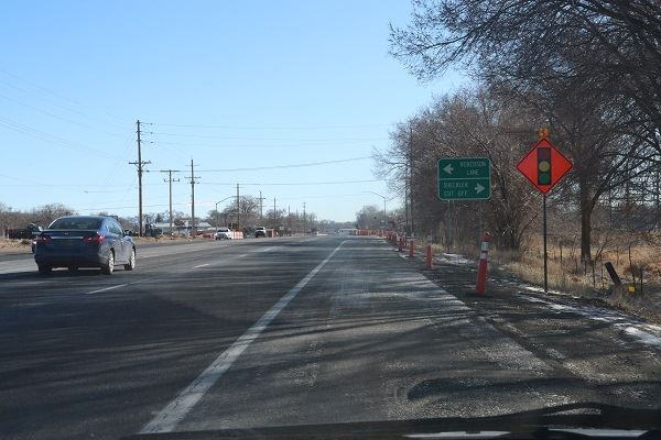 Sheckler intersection during temporary light construction