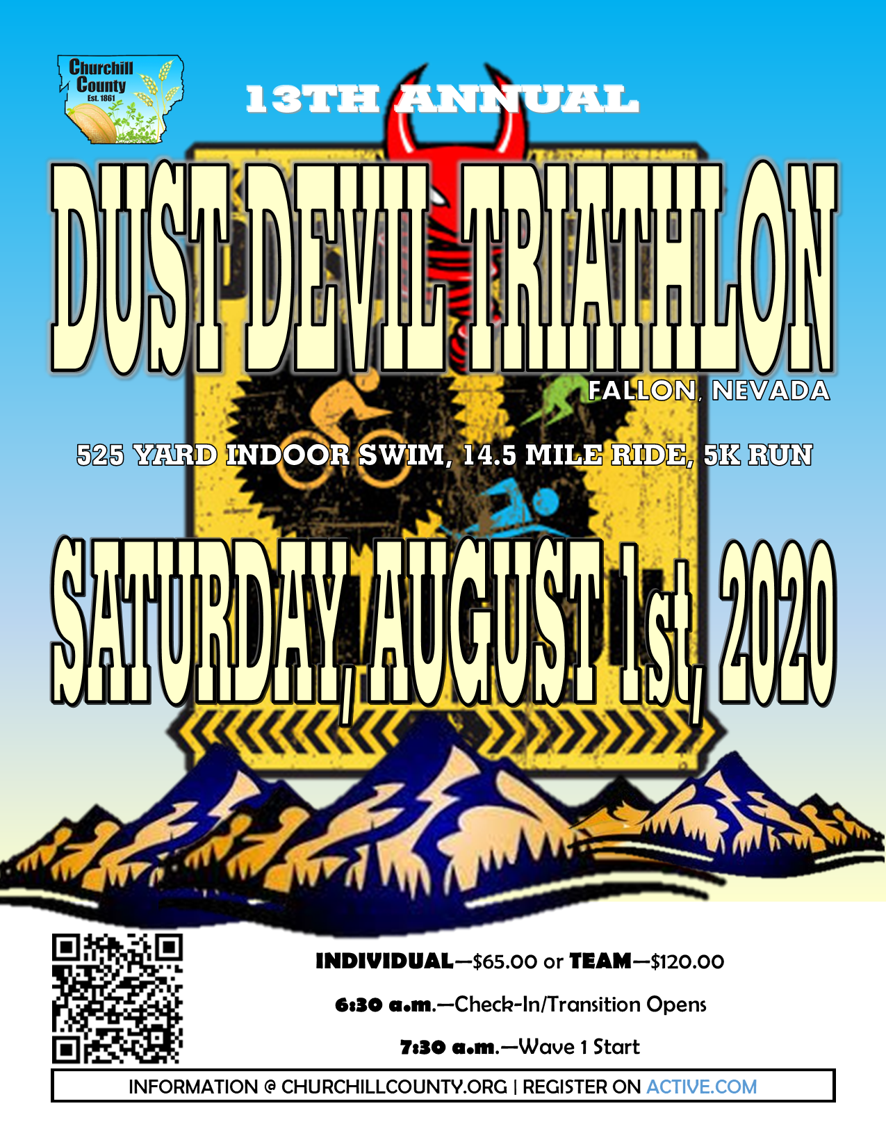 Dust Devil Sprint Triathlon (2020) - Flyer (Digital)