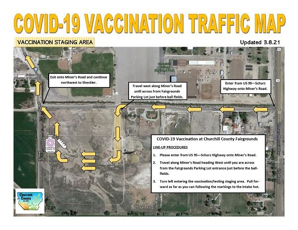 Vaccination Traffic Map - 03.08.21